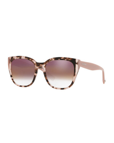 5550ca4c760b Quick Look. Valentino · Colorblock Acetate Square Sunglasses. Available in  Pink