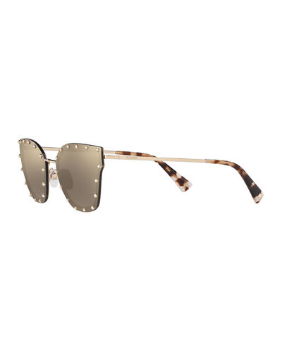 Valentino Crystal Embellished Butterfly Sunglasses