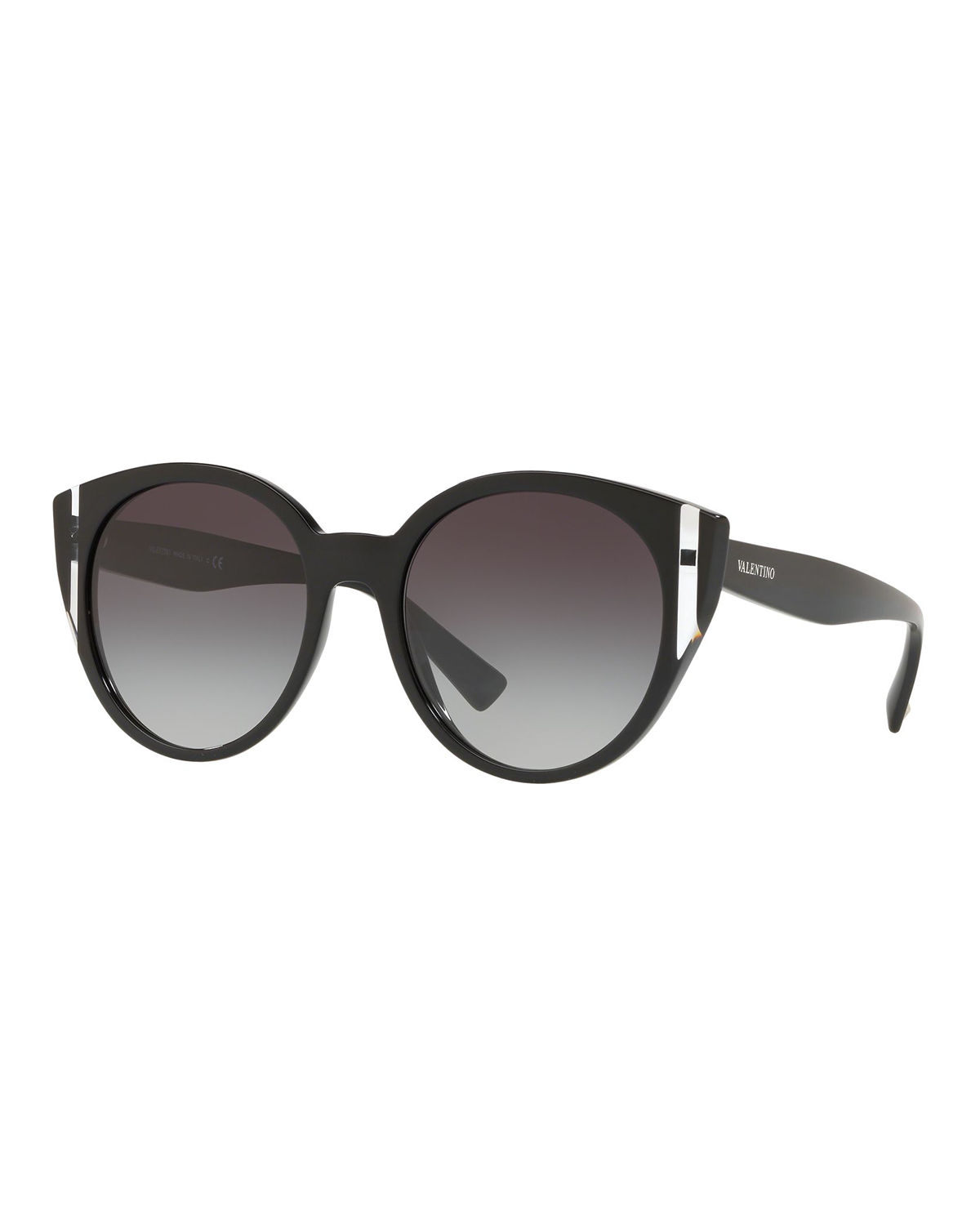 132eef178a Valentino Two-Tone Acetate Round Sunglasses