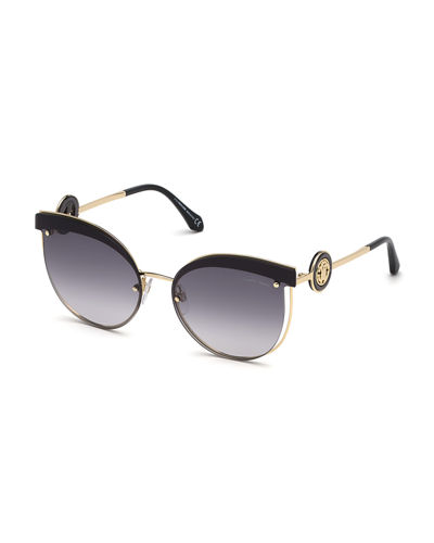 Butterfly Cutout Metal Sunglasses
