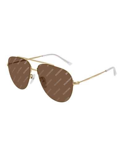Logo-Print Aviator Sunglasses