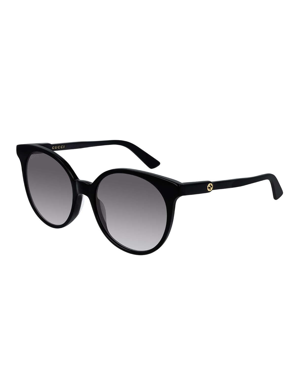 Gucci Sunglasses ROUND GRADIENT SUNGLASSES W/ TRANSPARENT ARMS