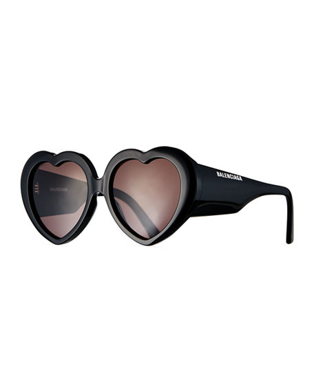 Balenciaga Heart-Shaped Acetate Sunglasses