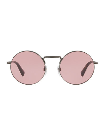Round Filigree Metal Sunglasses
