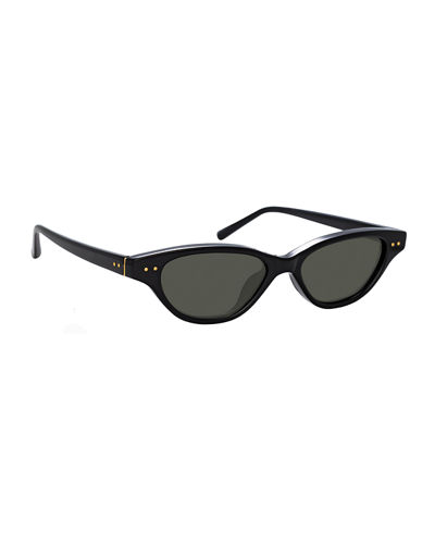 Slim Acetate Cat-Eye Sunglasses