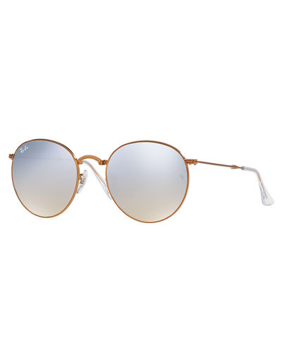 Mirrored Round Metal Sunglasses