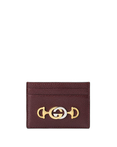 Gucci Zumi Leather Card Case