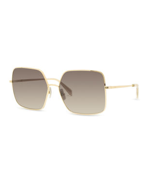 650a098bc6c Celine Square Gradient Metal Sunglasses