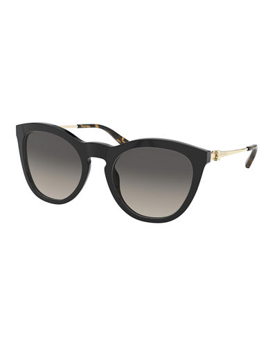 Cat-Eye Gradient Acetate & Metal Sunglasses
