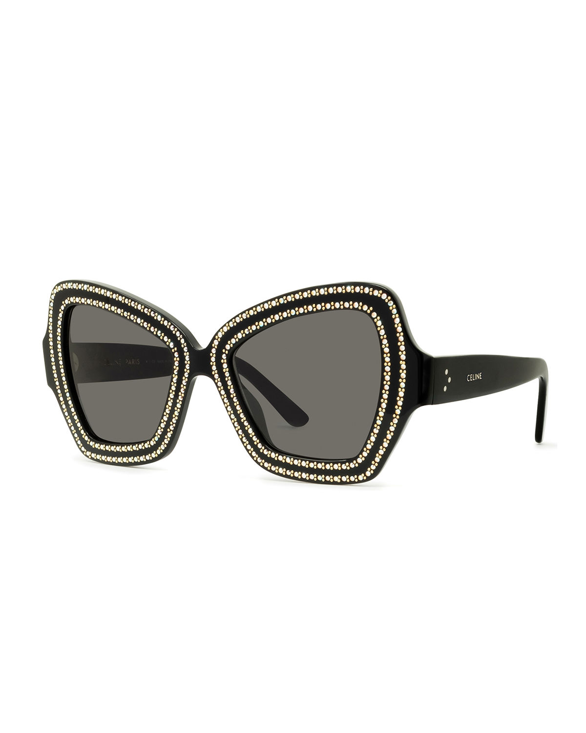e6e58ea86b6 Celine Crystal Embellished Butterfly Acetate Sunglasses