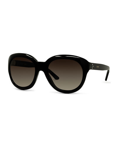 Gradient Round Acetate Sunglasses