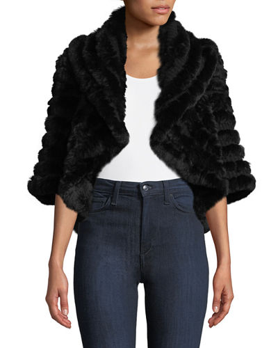 Luxury Cashmere Fur Shrug