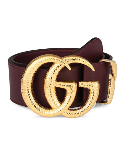 e934ce303f2 Quick Look. Gucci · Smooth Leather Belt w  Double G Buckle