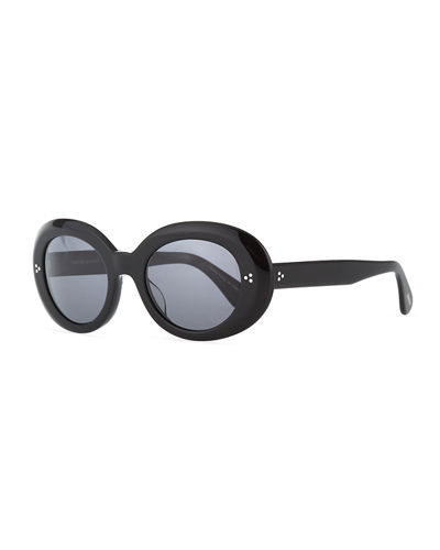Oliver Peoples Oval Acetate Sunglasses