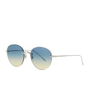 f750a0140a Oliver Peoples Women s Sunglasses   Round   Aviators at Neiman Marcus