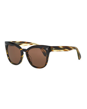 a8a26650b5f Oliver Peoples Marianela Rounded Acetate Butterfly Sunglasses