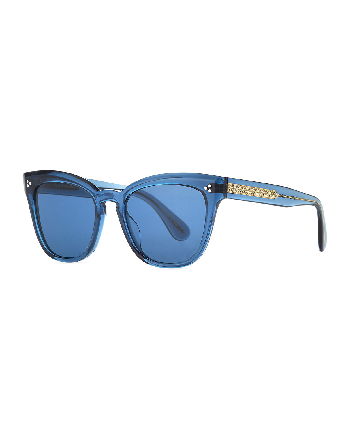 Marianela Rounded Acetate Butterfly Sunglasses