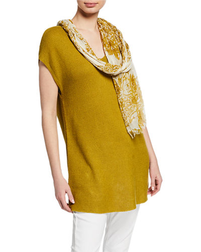 Eileen Fisher Watercolor Cotton Gauze Scarf