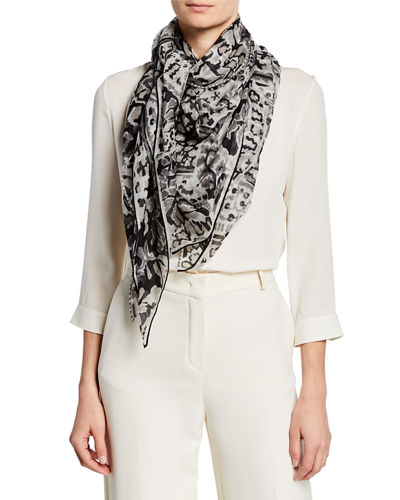 Cashmere Abstract Paisley Scarf