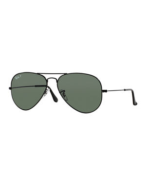 a4c3b4f46fc Ray-Ban Metal Polarized Aviator Sunglasses
