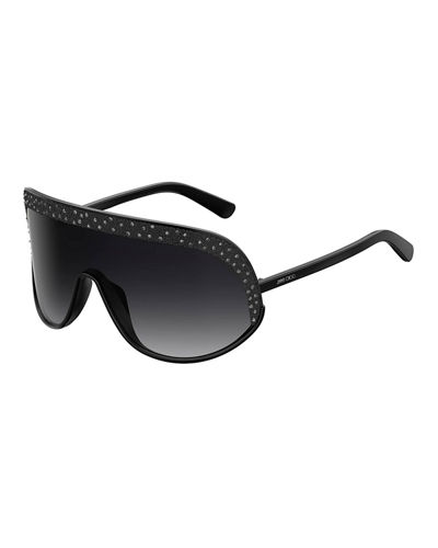 bb1d61e20dc0 Quick Look. Jimmy Choo · Siryns Wrap Shield Sunglasses w  Crystal Detailing