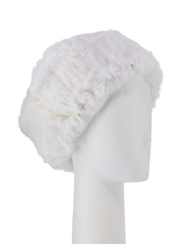 Gorski Striped Knit Fur Hat