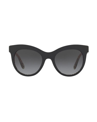 Dolce & Gabbana Oval Gradient Acetate Sunglasses
