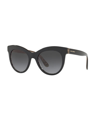 Oval Gradient Acetate Sunglasses