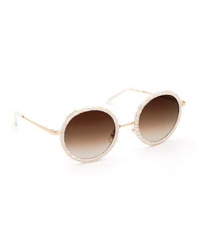 Louisa Round Gradient Sunglasses