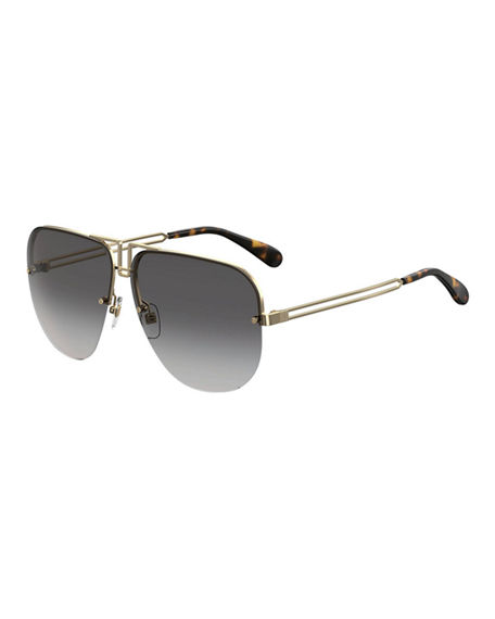 Givenchy Aviator Cutout Metal Sunglasses