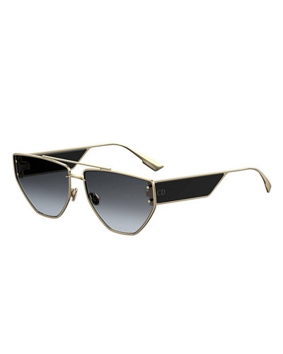 DiorClan2 Metal Rectangle Sunglasses