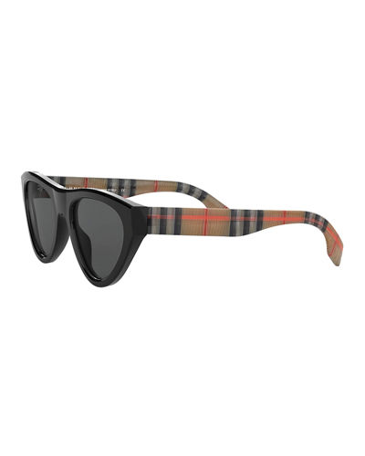 Burberry Oval Acetate Sunglasses
