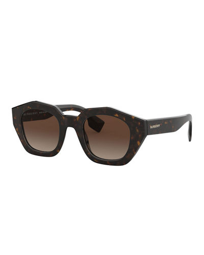 e1bc4eb0eab Quick Look. Burberry · Check Print Acetate Square Sunglasses. Available in  Black ...