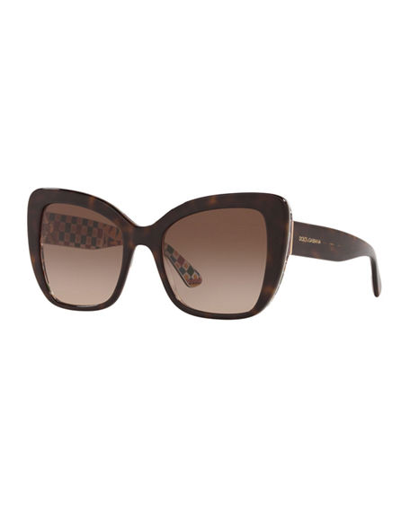 Dolce & Gabbana Acetate Butterfly Sunglasses