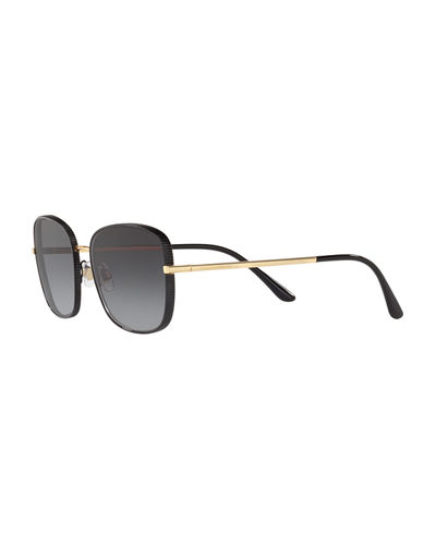 Dolce & Gabbana Ridged Metal Butterfly Sunglasses