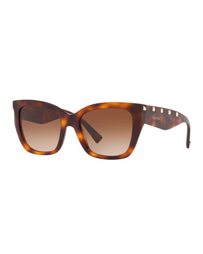 Square Rockstud Acetate Sunglasses