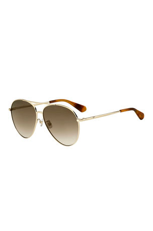 kate spade new york carolanefs metal aviator sunglasses