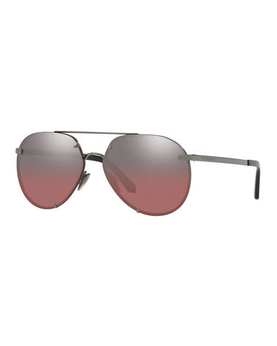 76d3fd9c29a Quick Look. Burberry · Mirrored Metal Aviator Sunglasses