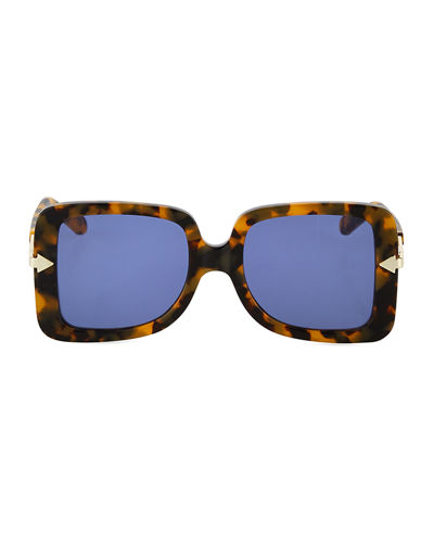 Karen Walker Eden Square Plastic & Metal Sunglasses