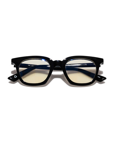 The Book Club The Snatcher in Black Tie Cat-Eye Reading Glasses