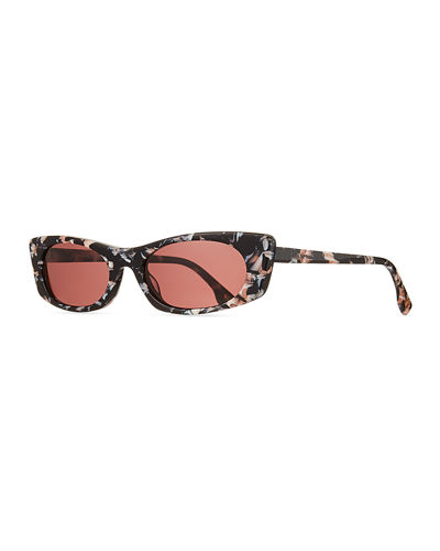 Deep Shade Marbleized Acetate Cat-Eye Sunglasses