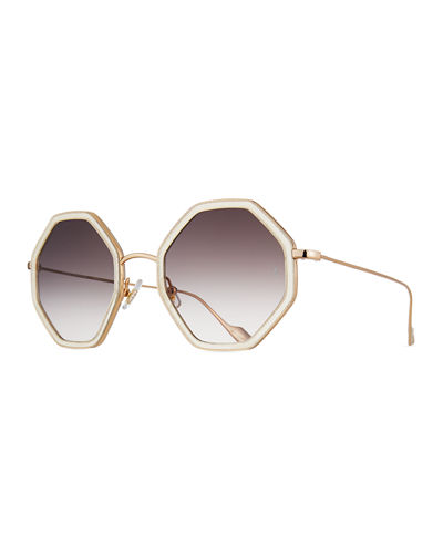Sunday Somewhere Hitomi Acetate & Metal Octagonal Sunglasses