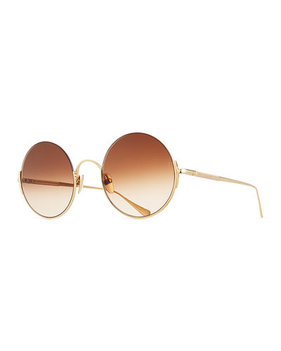 Hunter Semi-Rimless Round Sunglasses