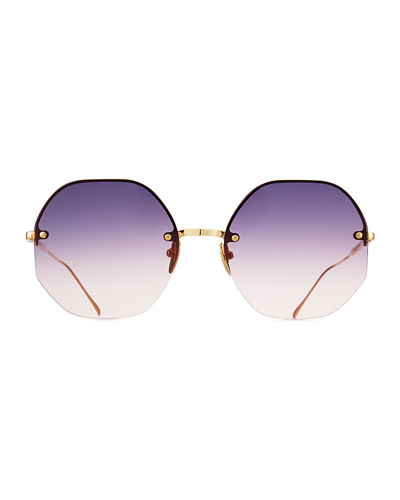 Sunday Somewhere Mia Rimless Octagonal Sunglasses