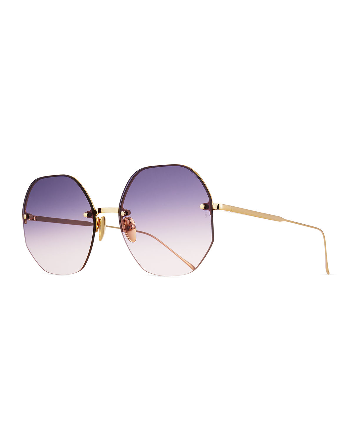 Sunday Somewhere Sunglasses MIA RIMLESS OCTAGONAL SUNGLASSES