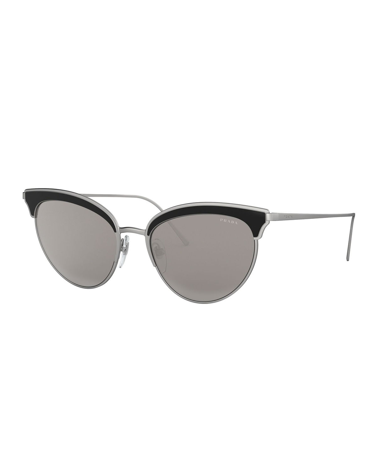 85f079a2953 Prada Metal Cat-Eye Sunglasses w  Contrast Brows