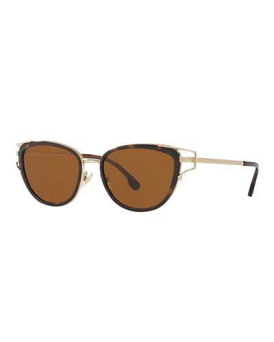 6dfacbd17f4c Quick Look. Versace · Greek Key Metal Cat-Eye Sunglasses