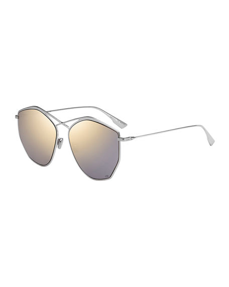 Dior Stell4 Mirrored Crisscross Sunglasses
