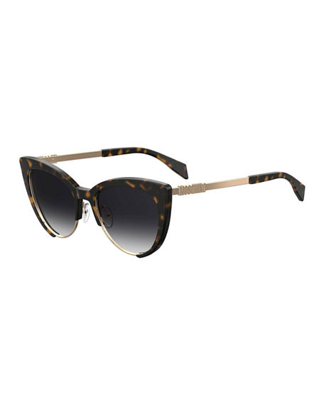 Moschino Sunglasses MIRRORED CAT-EYE SUNGLASSES