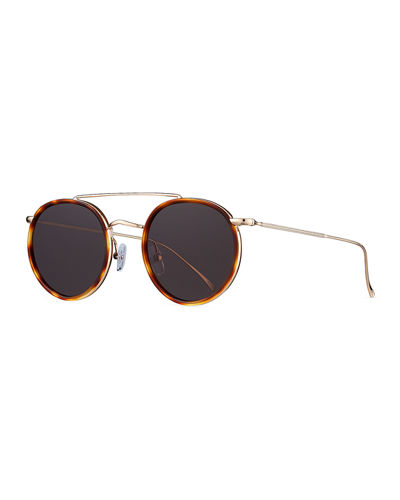 Allen Ace Acetate & Metal Round Sunglasses